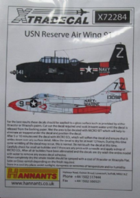 X72284 1/72 USN Reserve Air Wing 91 decals (10)